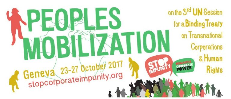 Stop Corporate Impunity call for mobilisation in Geneva 23-27 October 2017