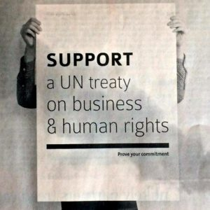 Support a UN treaty on business & human rights and join the global fight against transnational corporate power!
